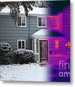 Visible And Infrared Image Of A House Metal Print