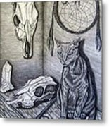Visions Of Stimus The Cat Metal Print