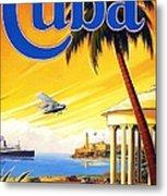 Visit Cuba Metal Print