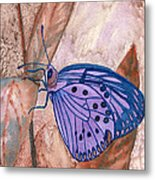 Visualization Butterfly Metal Print