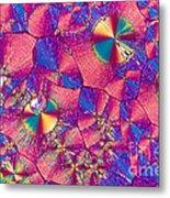 Vitamin B3 Crystal Metal Print
