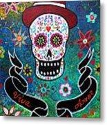 Viva El Amor Day Of The Dead Metal Print