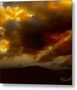 Vivachas Golden Hour Sunset Glowing Clouds  Metal Print