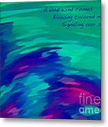 Vivid Wind Haiku Metal Print