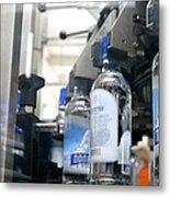 Vodka Bottling Machine Metal Print