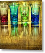 Vodka Glasses Metal Print by Svetlana Sewell