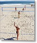 Volleyball On The Beach  Metal Print