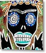 Voodoo Queen Sugar Skull Angel Metal Print