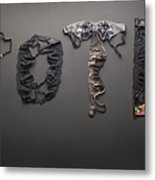 Vote Spelled With Bras Metal Print