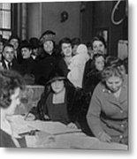 Voting Poll, 1922 Metal Print