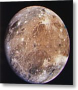 Voyager I Photo Of Ganymede, Jupiter's Third Moon Metal Print