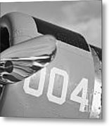 Vultee Bt-13 Valiant In Bw Metal Print by Lynda Dawson-Youngclaus