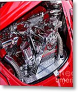 Vw Beetle With Chrome Engine Metal Print by Kaye Menner