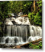 Wagner Falls In Summer  Metal Print