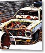 Wagon Of Rust Metal Print