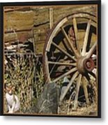 Wagon Wheel Cat Metal Print