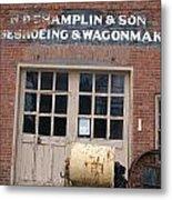 Wagonmaking Metal Print