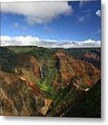 Waimea Canyon Landscape Metal Print