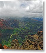 Waimea Canyon Weather Metal Print