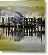 Waiting Boats Metal Print