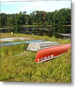 Waiting For One Last Summer Voyage Metal Print