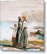Waiting For The Return Of The Fishing Fleets Metal Print