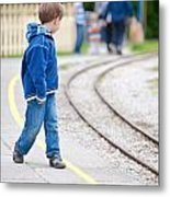 Waiting For Train Metal Print by Tom Gowanlock