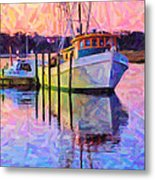 Waiting In The Harbor Metal Print