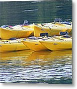 Waiting Kayaks Metal Print
