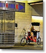 Waiting On A Ride Metal Print