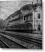 Waiting On The Ghost Train Metal Print