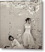 Waiting Together Metal Print by Sherry Davis