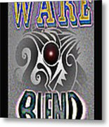 Wake Blend Product Design Metal Print