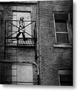 Walk On White  Metal Print