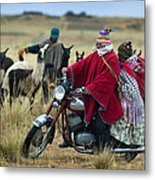 Walk Through The Highlands. Republic Of Bolivia.  Metal Print