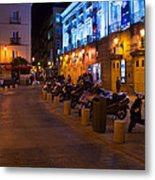 Walk With Me By Night Metal Print