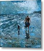 Walkies Metal Print
