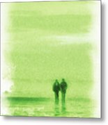 Walking On Green Metal Print