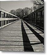 Walking The Lines Metal Print