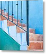 Walking Up Metal Print
