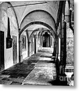 Walkway To Chapel Metal Print