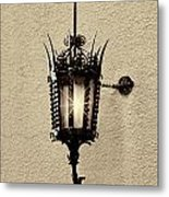 Wall Lamp Sepia Metal Print