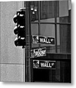 Wall Street And Broadway Metal Print