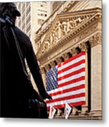 Wall Street Flag Metal Print