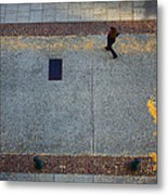 Wall Street Looking Down Metal Print
