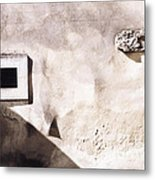 Wall With Square Hole Metal Print