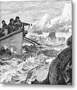 Walrus Hunt, 1875 Metal Print