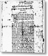 War Of 1812: Broadside Metal Print