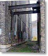Warehouse Beams And Grafitti Metal Print