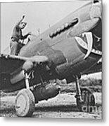 Warhawk P40 1943 Metal Print
